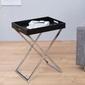 Interior space :: stolik valet srebrny
