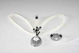 Królowa śniegu komplet srebrnej biżuterii