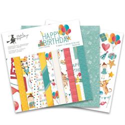 Papier scrapbookingowy Happy Birthday 30,5x30,5 cm - zestaw