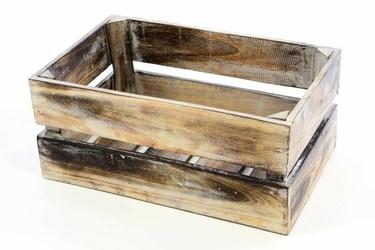 Skrzynka drewniana divero 44 x 28 x 19 cm na wino
