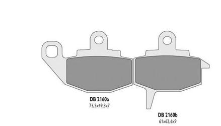 Klocki hamulcowe delta braking kh130 db2160mx-d