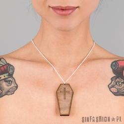 Naszyjnik punky pins - coffin