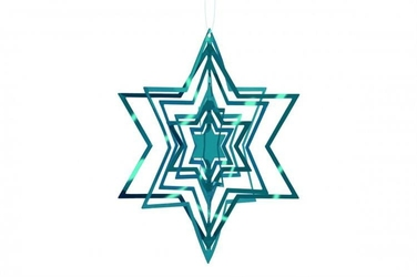 Ozdoba choinkowa 3d gwiazda zielona