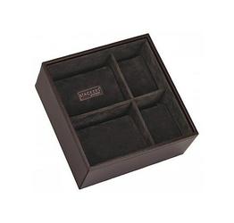 Pudełko na zegarki Stackers kwadratowe brązowe