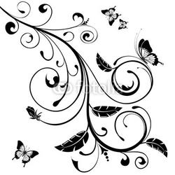 Fotoboard na płycie kwiatowy wzór