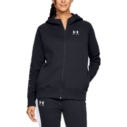 Bluza damska under armour rival fleece sportstyle lc sleeve graphi - czarny