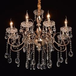 Żyrandol wiszący, złoto, kryształ, wdzięk mw-light crystal 373011308