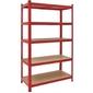 Metalowy regał szafka do garażu 5 półek 180x90x40 - czerwony