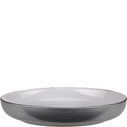 Talerz głęboki, porcelanowy, szary time verlo 23,5 cm v-80001-4