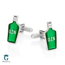 Spinki do mankietów butelka gin kc-1037 onyx-art london