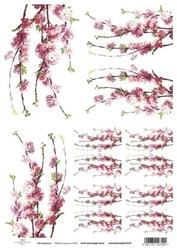 Papier ryżowy itd a4 r411 kwitnąca jabłoń