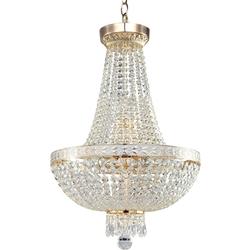 Duża, kryształowa lampa wisząca, złota bella maytoni classic dia750-tt40-wg