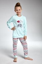 Piżama dziewczęca cornette 59495 hippo turkus