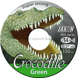 Żyłka uniwersalna JAXON CROCODILE Green zielona 0,22mm 9kg 150m