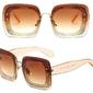 Okulary przeciwsłoneczne karmelowe brokat - karmelowe