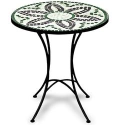 Metalowy stół flora z mozaiką ogrodowy ogród