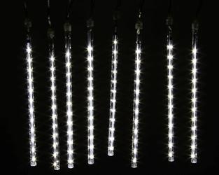 Lampki świąteczne spadające sople 192 led, 8 sopli, lampki zewnętrzne joylight ip44 łączenie