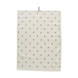 Ręcznik kuchenny kremowy w kropki bloomingville