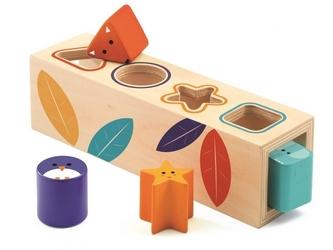 Kształty i kolory drewniany sorter