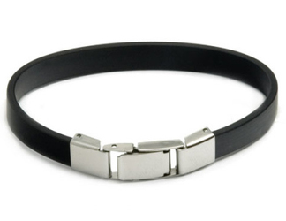 bransoletka silikonowa 611-2 czarna