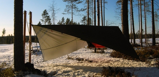 Wodoodporny tarp bushmen thermo - 4 x 3m