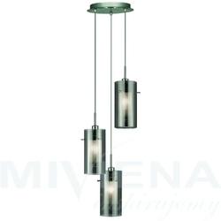 Duo 2 lampa wisząca 3 przydymiony