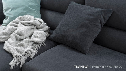 Nobonobo :: sofa narożna  narożnik tapicerowany lewy bola szary 311x80 cm