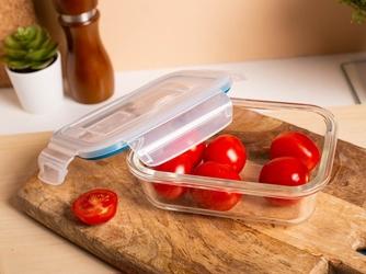 Pojemnik żaroodporny do mikrofali i piekarnika  do przechowywania z pokrywą i wentylem altom design vega prostokątny 0,37 l