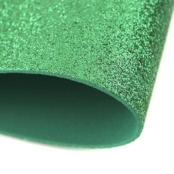 Pianka brokatowa 20x30 cm - zielona - ziel