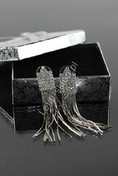 Wiszące  kolczyki z kryształkami| wieczorowe kolczyki, wiszące kolczyki ślubne
