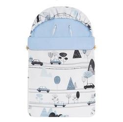 Śpiwór bawełniany wiosenno-letni samiboo superb mini z regulowaną grubością - samochody z niebieskim