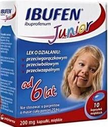 Ibufen junior 0,2g x 10 kapsułek