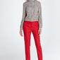 Czerwone klasyczne długie spodnie w kant