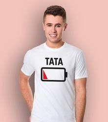 Bateria - tata t-shirt męski biały s