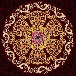 Obraz na płótnie canvas trzyczęściowy tryptyk wzór arabeski