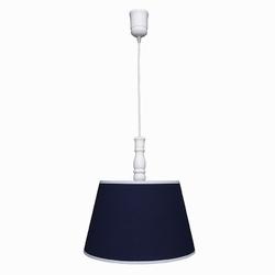 Lampa wisząca roomee decor - granatowa z białą lamówką
