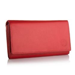 Elegancki portfel damski bpd-dz-10 czerwony