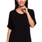Czarna oversizowa bluzka bawełniana