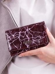 Skórzany portfel damski fioletowy lorenti 76112 - fioletowy
