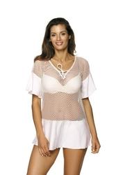 Sukienka plażowa marko claire bianco m-460 1