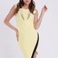 Emamoda sukienka - cytrynowy 11006-4