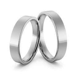 Obrączki ślubne platynowe klasyczne płaskie 5 mm - pt-20