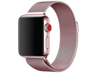 Bransoleta milanese pasek alogy do apple watch 123456se 4244mm różowa