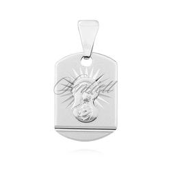 Srebrny pr.925 medalik matka boska madonna - rodowanie