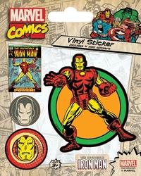 Marvel iron man - naklejka z komiksu