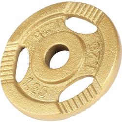 1,25 kg obciążenie żeliwne z uchwytem złote