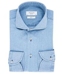 Koszula jeansowa jasnoniebieska slim fit 44