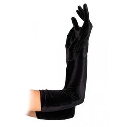 Długie drapieżne rękawiczki z tkaniny velvet