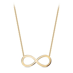 Staviori naszyjnik nieskończoność żółte złoto 0,333.  długość regulowana 45cm lub 42cm.