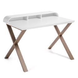 Biurko SELESTINO 82,5cm białe dębowe - drewniany || biały